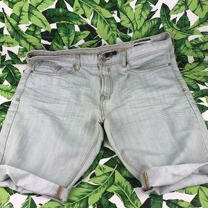 Buffalo David Bitton Light Wash Cuff Denim Shorts